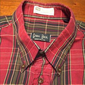 Gitman Brothers Red plaid shirt Large